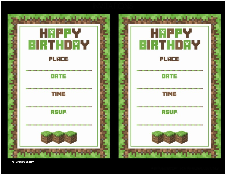photograph regarding Minecraft Invitations Printable titled Minecraft Birthday Bash Invites Cost-free Minecraft