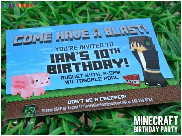have a blast minecraft birthday party