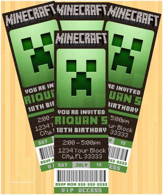 Minecraft Birthday Party Invitations the Best Minecraft Party Ideas for the Ultimate Minecraft