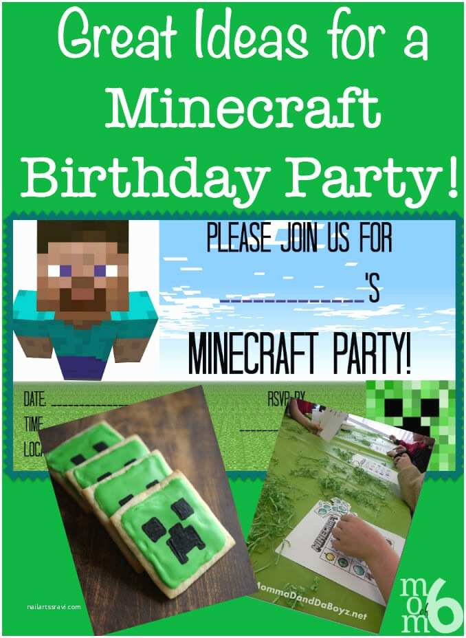 Minecraft Party Invitations Great Ideas for A Minecraft Birthday Party Mom 6