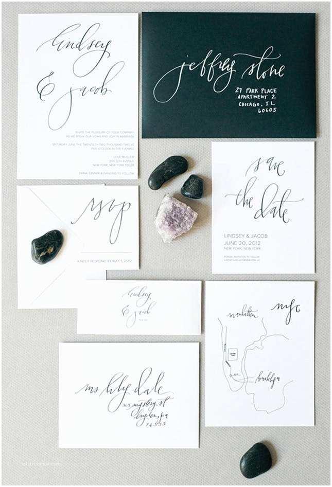 Minimalist Wedding Invitations 15 Super Chic Minimalist Wedding Invites