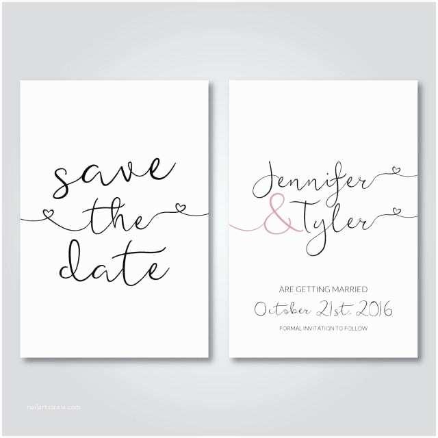 Minimalist Wedding Invitations Save the Date Printable Wedding Invitation Digital