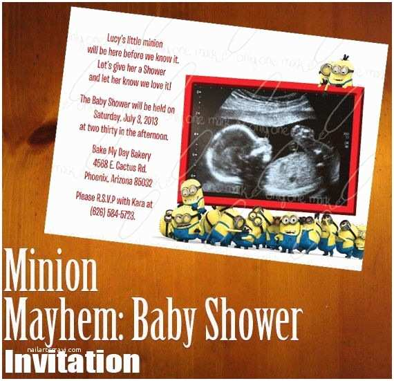 Minion Baby Shower Invitations 17 Best Minion Baby Shower Ideas Images On Pinterest