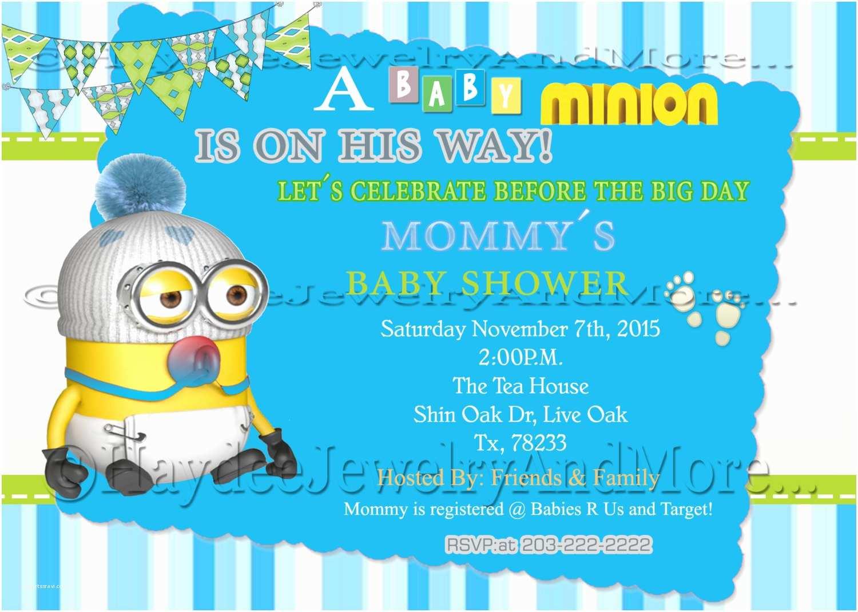 Minion Baby Shower Invitations Boy S Minions Baby Shower Invitation
