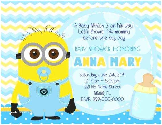Minion Baby Shower Invitations Cheap Baby Shower Invitations for Boys