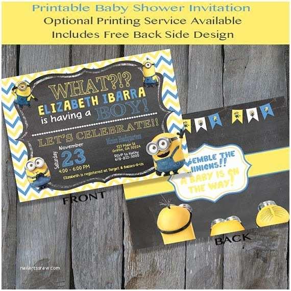 Minion Baby Shower Invitations Printable Minion Baby Shower Invitation by