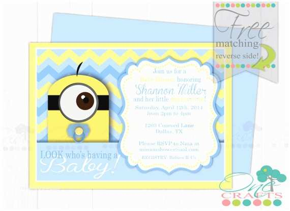 Minion Baby Shower Invitations Unavailable Listing On Etsy