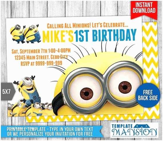 35 Minion Birthday Invitations Nailartssravi