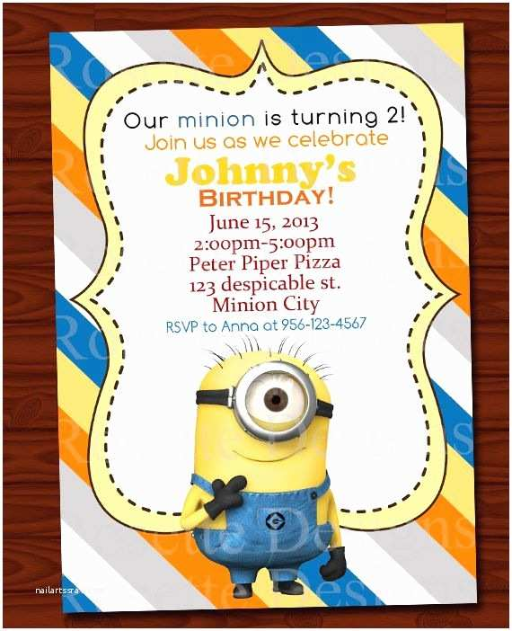 Minion Birthday Invitations 29 Best Images About Minion Birthday Party On Pinterest