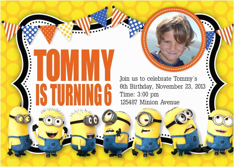 Minion Birthday Invitations Minion Birthday Invitation Templates Free
