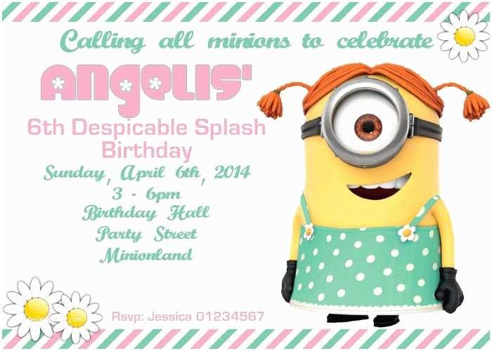 Minion Birthday Invitations Minions Printable Party Invitation Digital