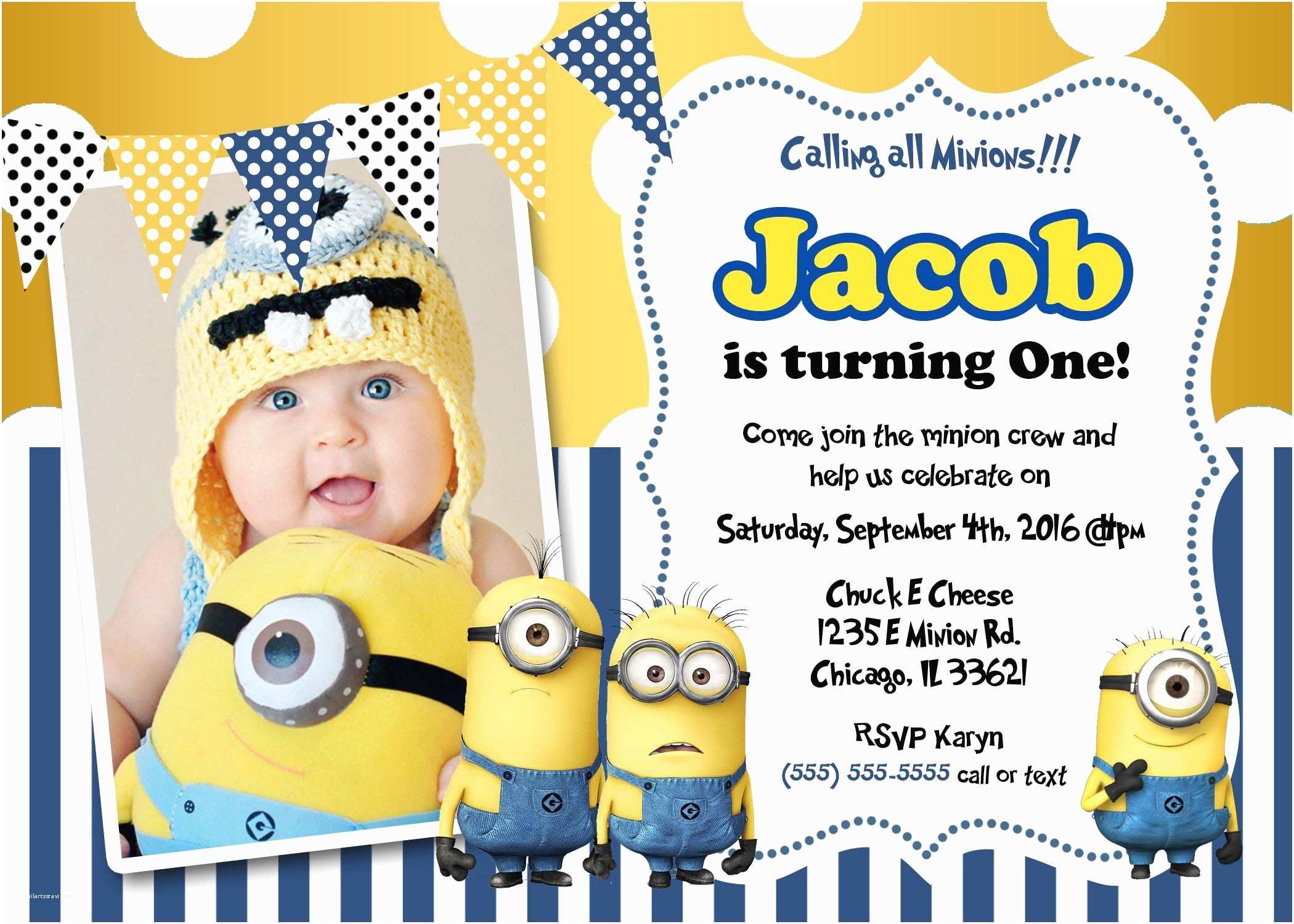 Minion Birthday Party Invitations Minions Birthday Invitations