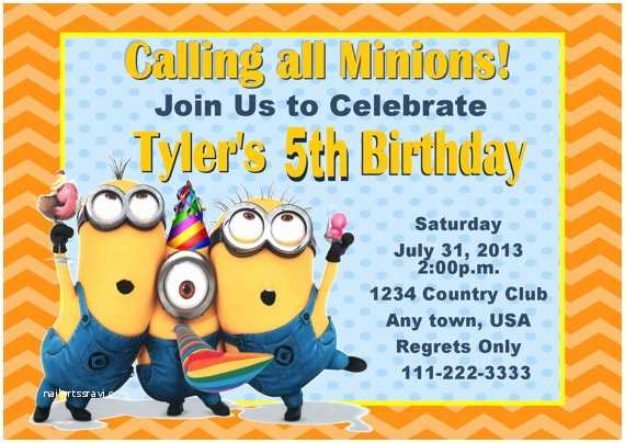 Minion Birthday Party Invitations Unavailable Listing On Etsy