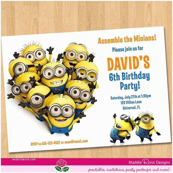 photograph relating to Printable Minion Invitations identified as Minion Get together Invites Despicable Me Invitation Printable