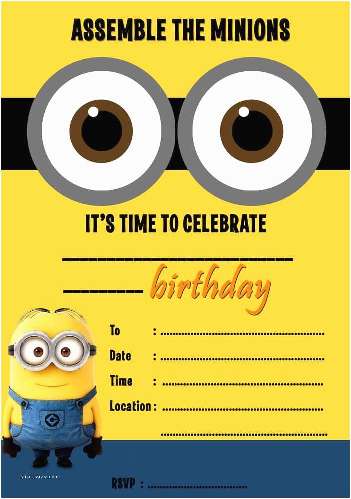 Minion Party Invitations Despicable Me Minions Party Invitations Kids Children S