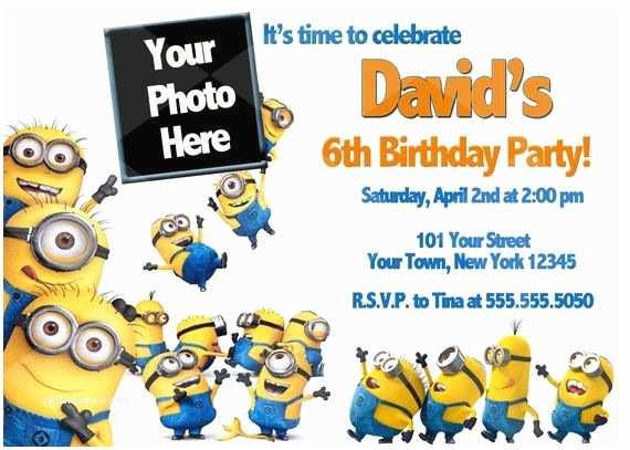 Minion Party Invitations Minion Birthday Party Invitations Sansalvaje