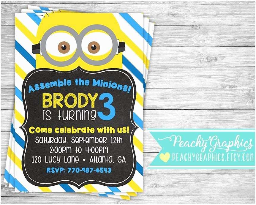 Minion Party Invitations Printable Minion Invitation Minions Movie Birthday Party