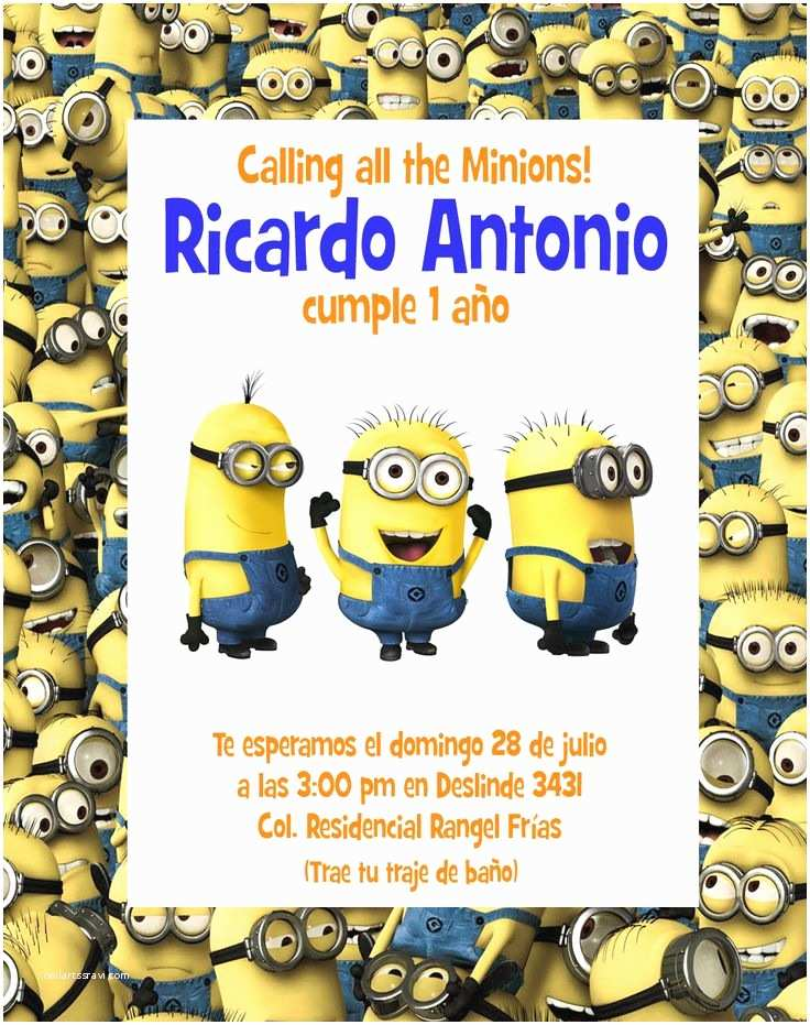 Minions Birthday Invitations Best 25 Minion Invitation Ideas On Pinterest