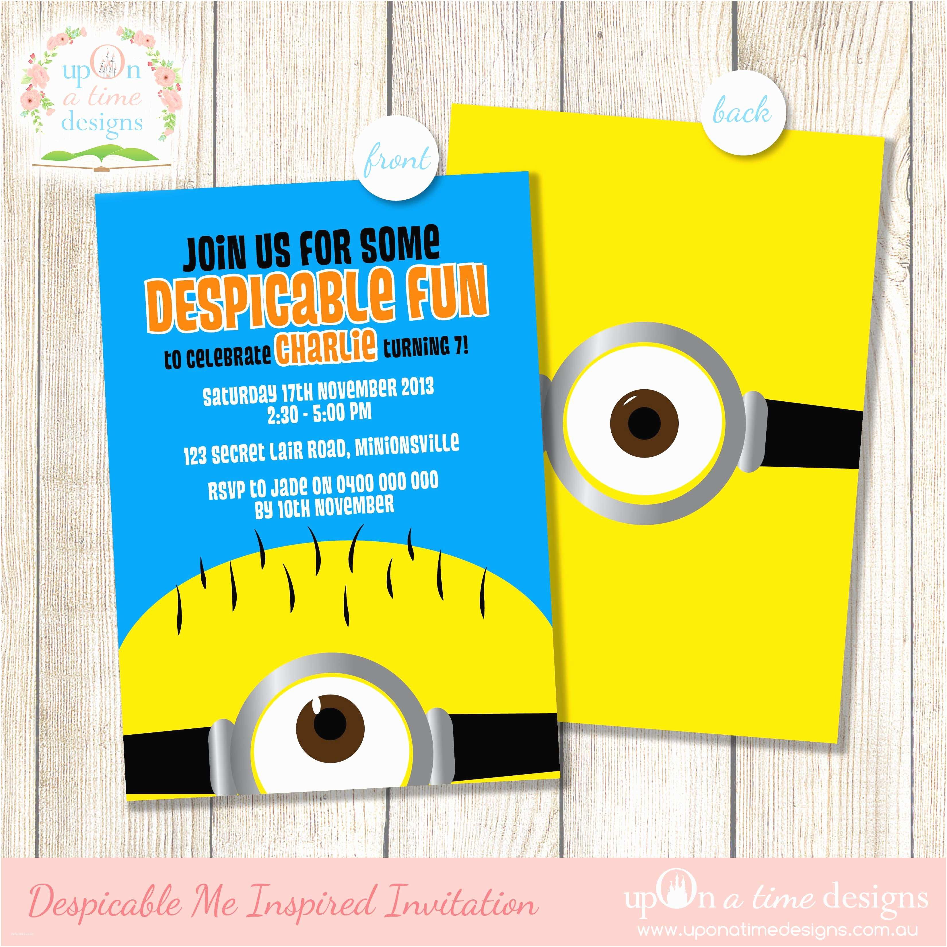 Minions Birthday Invitations Despicable Me Minion Party Supplies Life S Little