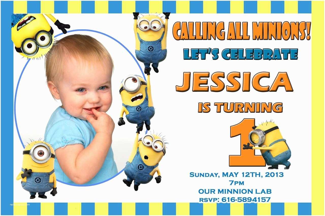 Minions Birthday Invitations Minion