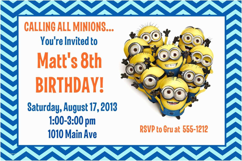 Minions Birthday Invitations Minion Birthday Party Invitation Printable 4x6 or 5x7