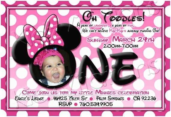 Minnie Mouse 1st Birthday Invitations Free Printable 1st Birthday Minnie Mouse Invitation