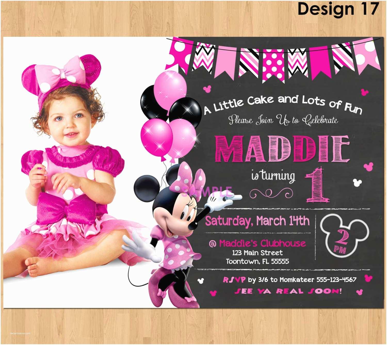 Minnie Mouse 1st Birthday Invitations Minnie Mouse Invitation Minnie Mouse 1st Birthday First Bday