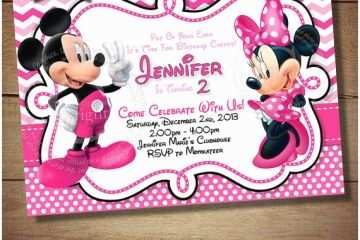 Minnie Mouse 2nd Birthday Invitations Huge Selection Mickey
