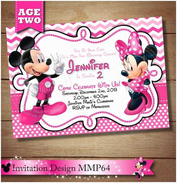 Minnie Mouse 2nd Birthday Invitations Huge Selection Mickey Second Invitation