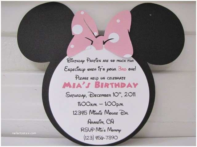 Minnie Mouse 2nd Birthday Invitations Pin 2nd Birthday Invitation Wording Minnie Mouse Image