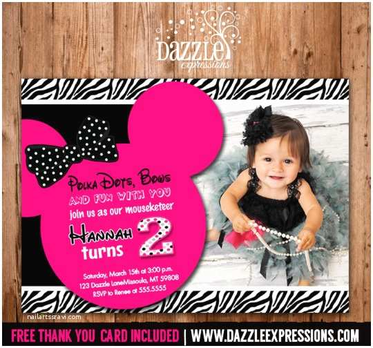 Minnie Mouse 2nd Birthday Invitations Printable Minnie Mouse Birthday Invitation Girls First