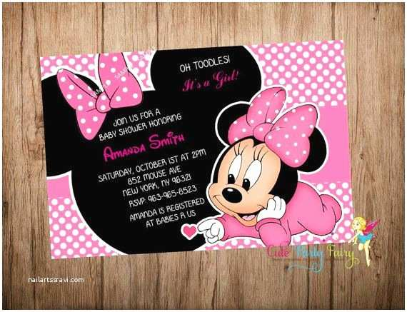 Minnie Mouse Baby Shower Invitations 60 Best Baby Shower Invitations Images On Pinterest