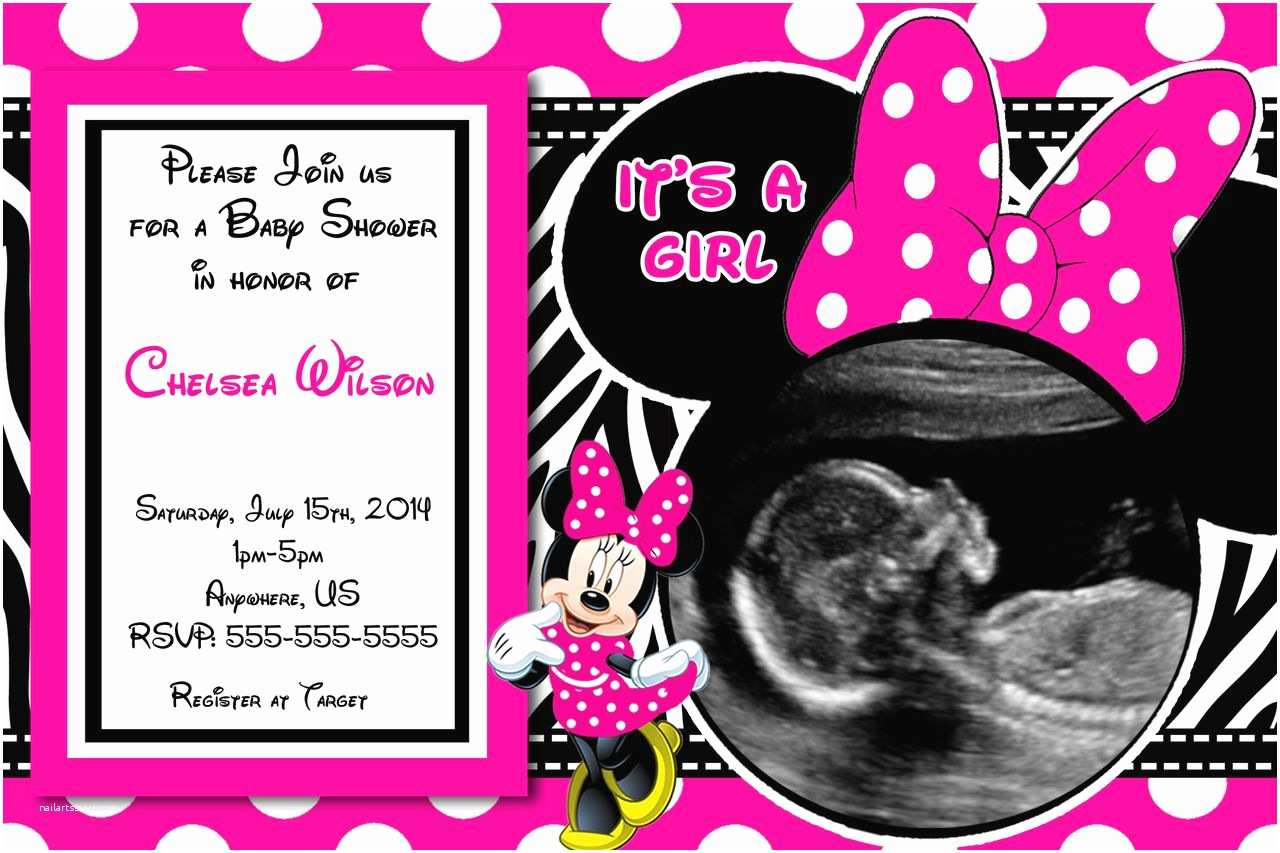 Minnie Mouse Baby Shower Invitations Baby Shower Invitations Minnie Mouse Baby Shower