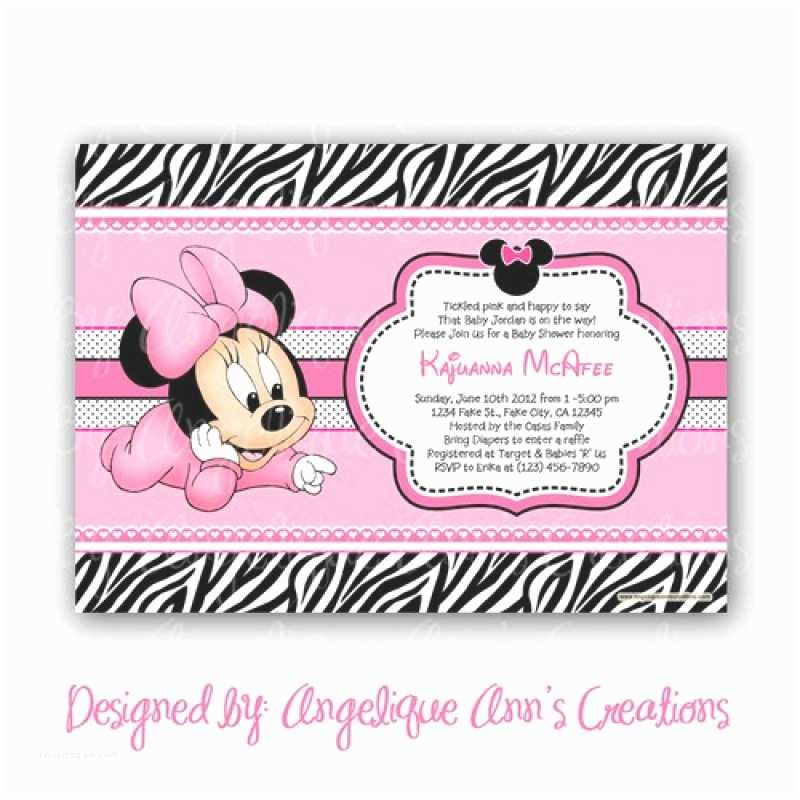 Minnie Mouse Baby Shower Invitations Free Printable Baby Minnie Mouse Baby Shower Invitation