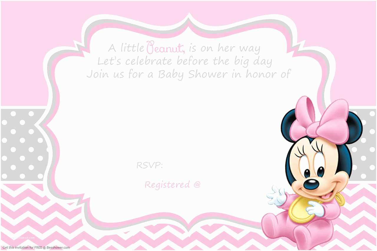Minnie Mouse Baby Shower Invitations Free Printable Minnie Mouse Baby Shower Invitation