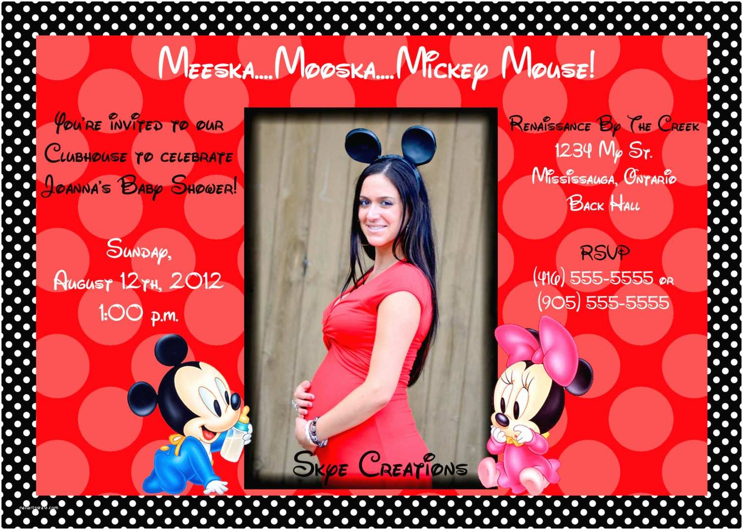 Minnie Mouse Baby Shower Invitations How to Make Minnie Mouse Baby Shower Invitations