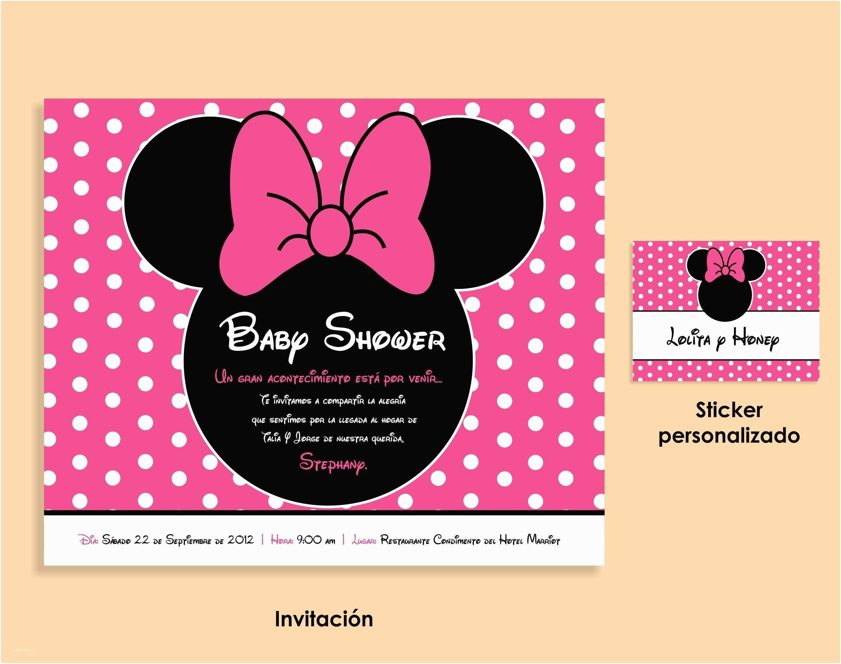 Minnie Mouse Baby Shower Invitations Minnie Mouse Baby Shower Invitation
