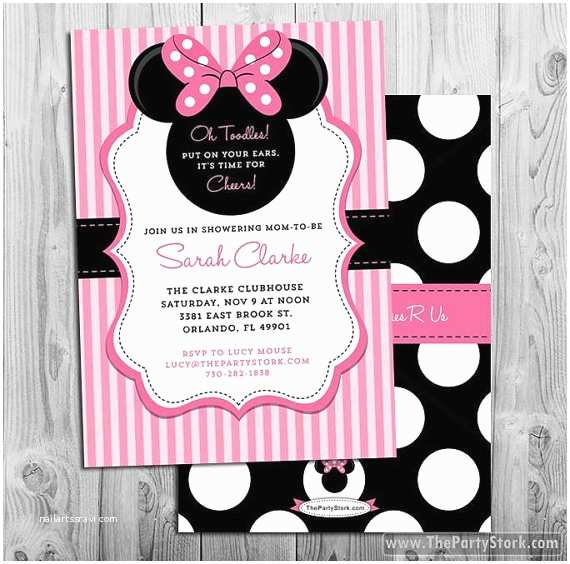 Minnie Mouse Baby Shower Invitations Minnie Mouse Baby Shower Invitations Printable Minnie Mouse