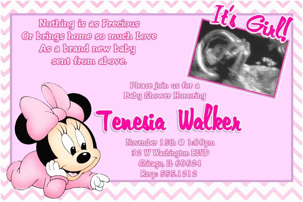 Minnie Mouse Baby Shower Invitations Minnie Mouse Baby Shower Invitations Wording – Invitations