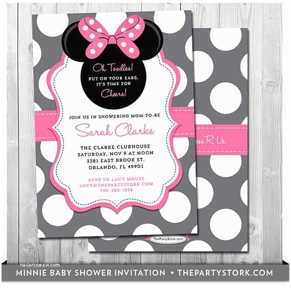Minnie Mouse Baby Shower Invitations Minnie Mouse Baby Shower Invites Baby Shower Minnie Mouse