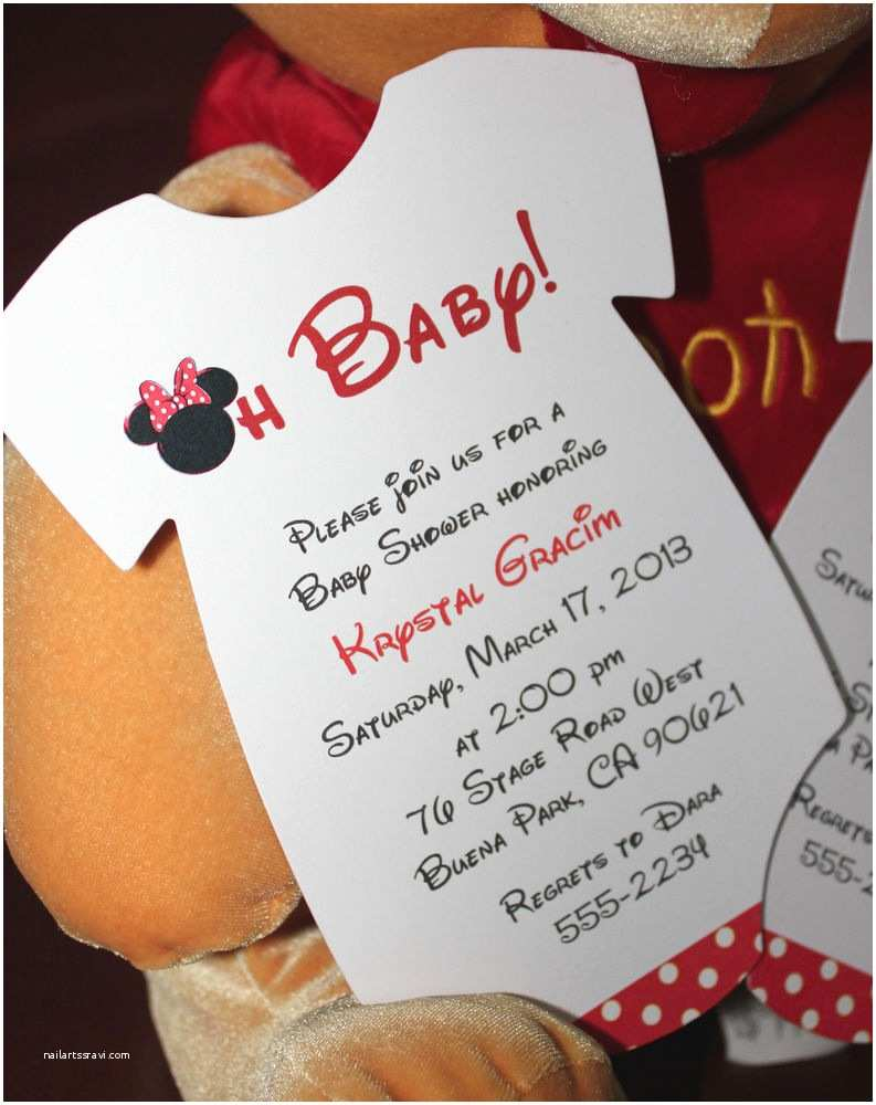 Minnie Mouse Baby Shower Invitations Minnie Mouse Esie Baby Shower Invitation All Wording