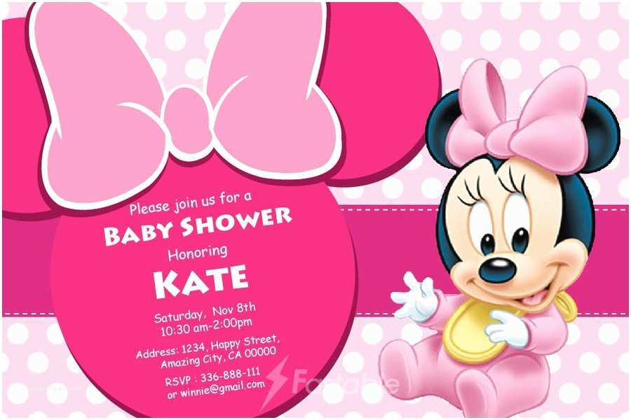 Minnie Mouse Baby Shower Invitations Minnie Mouse Shower Invitation