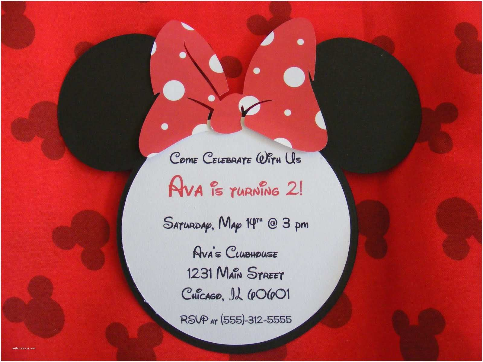 Minnie Mouse Baby Shower Invitations Whimsical Creations by Ann Happy Birthday Minnie Mouse