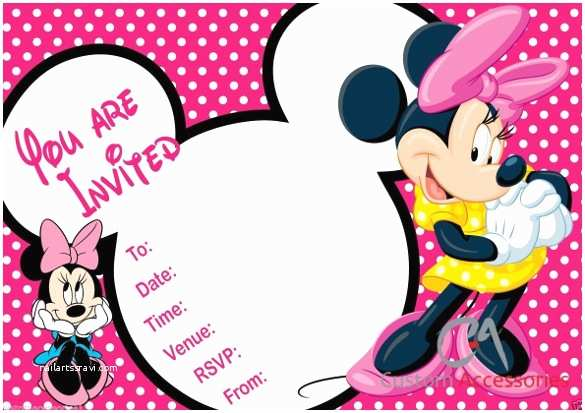 Minnie Mouse Birthday Invitation 32 Minnie Mouse Birthday Invitation Templates Free