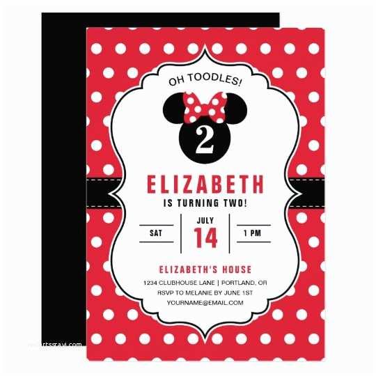 Minnie Mouse Birthday Invitation Minnie Mouse Birthday Invitation Cards – orderecigsjuicefo