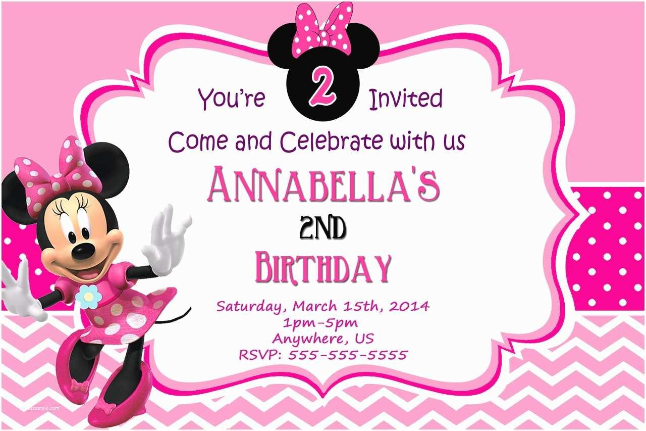 Minnie Mouse Birthday Invitation Minnie Mouse Invitation Template