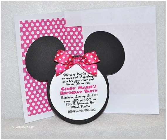 Minnie Mouse Birthday Invitations K & A Creations Mickey & Minnie Invitations