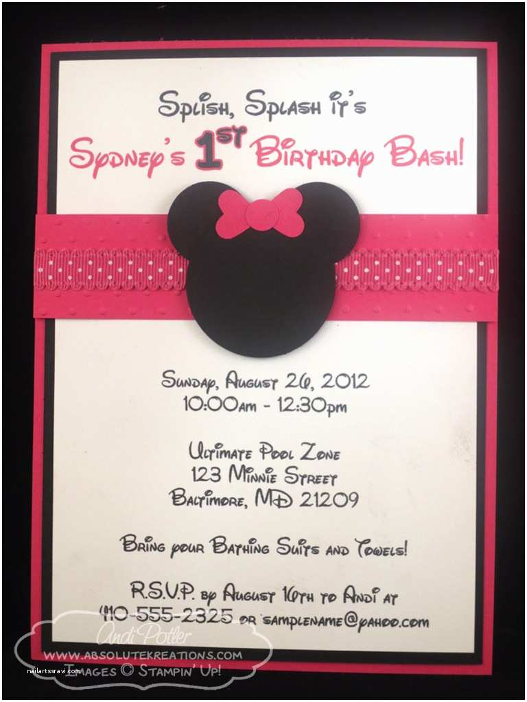 Minnie Mouse Birthday Invitations Minnie Mouse Birthday Invitations Ideas – Bagvania Free