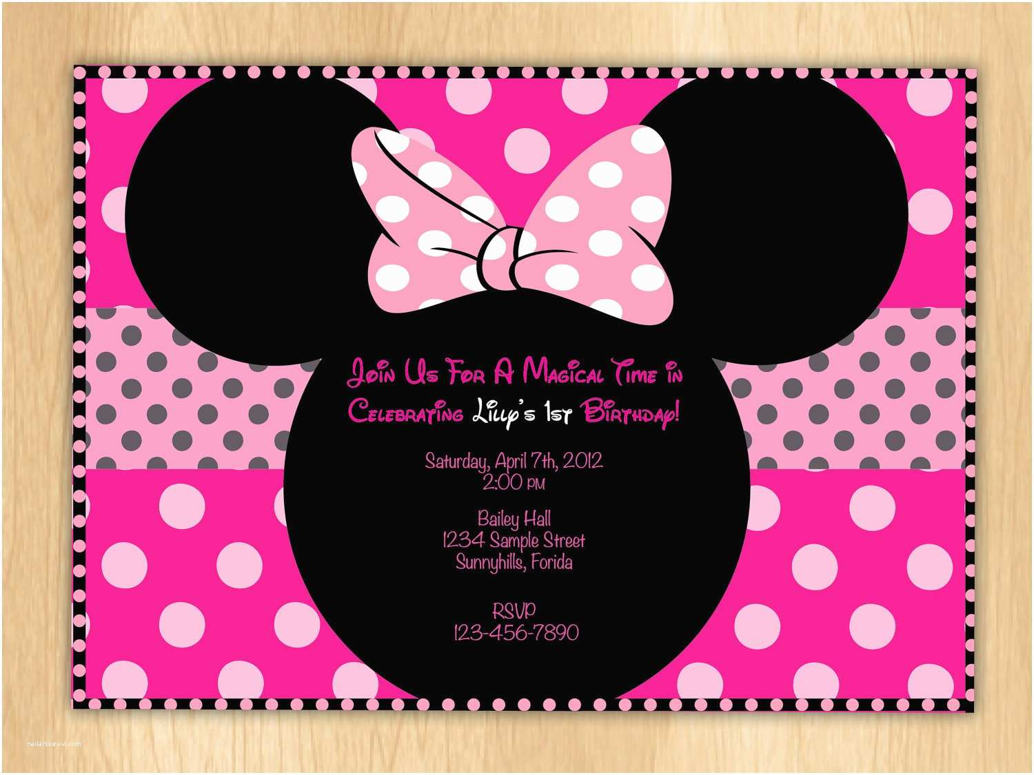 photograph regarding Minnie Mouse Bow Printable identify Minnie Mouse Birthday Invites Minnie Mouse Bow Printable