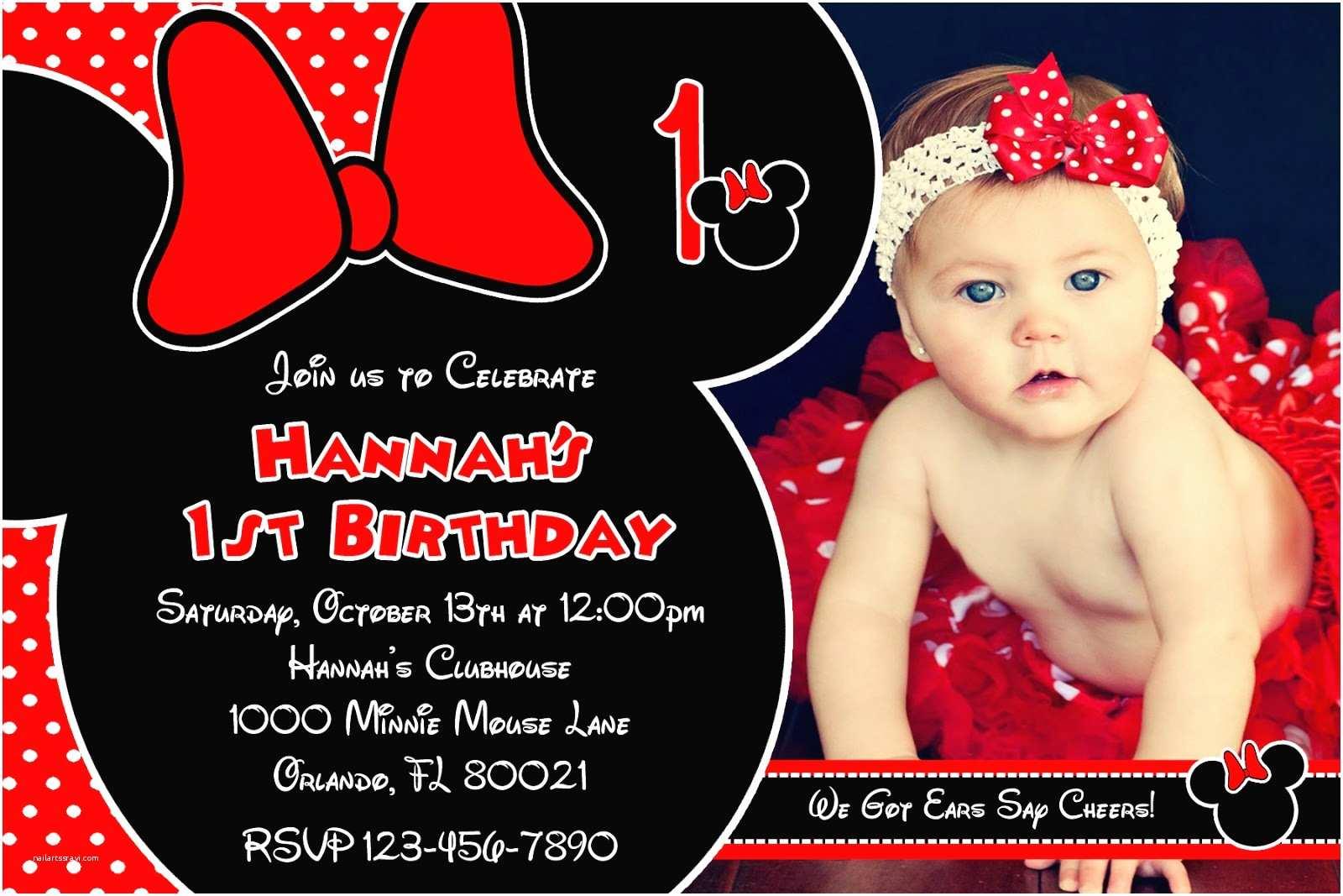 Minnie Mouse Birthday Invitations Printable